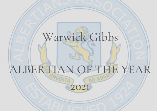 Albertian of the Year 2021 - Warwick Gibbs