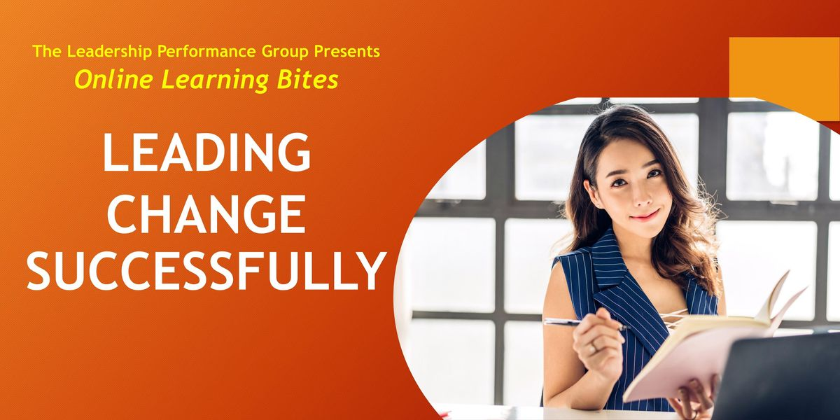Leading Change Successfully (Online - Run 14)