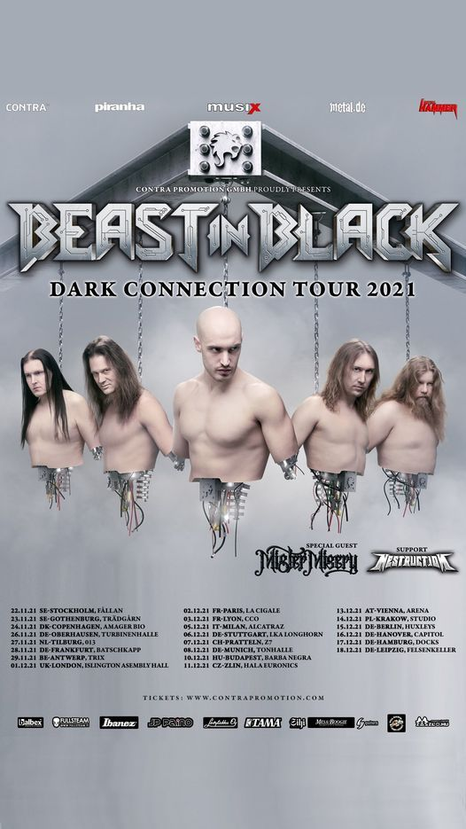 Beast In Black - Dark Connection Tour 2021   M\u00fcnchen   TonHalle