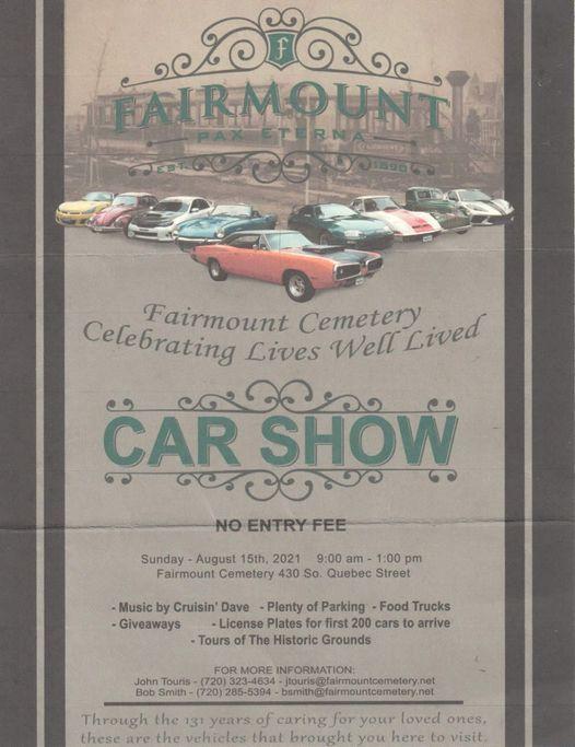 Fairmount Cementery Car Show Tarpaulin