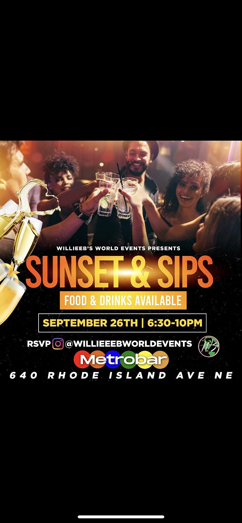 WillieeB\u2019s World Events Presents Sunset & Sips