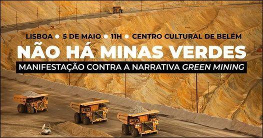 Manifestação contra a narrativa Green Mining, Centro Cultural de Belém, Lisbon, 5 May 2021