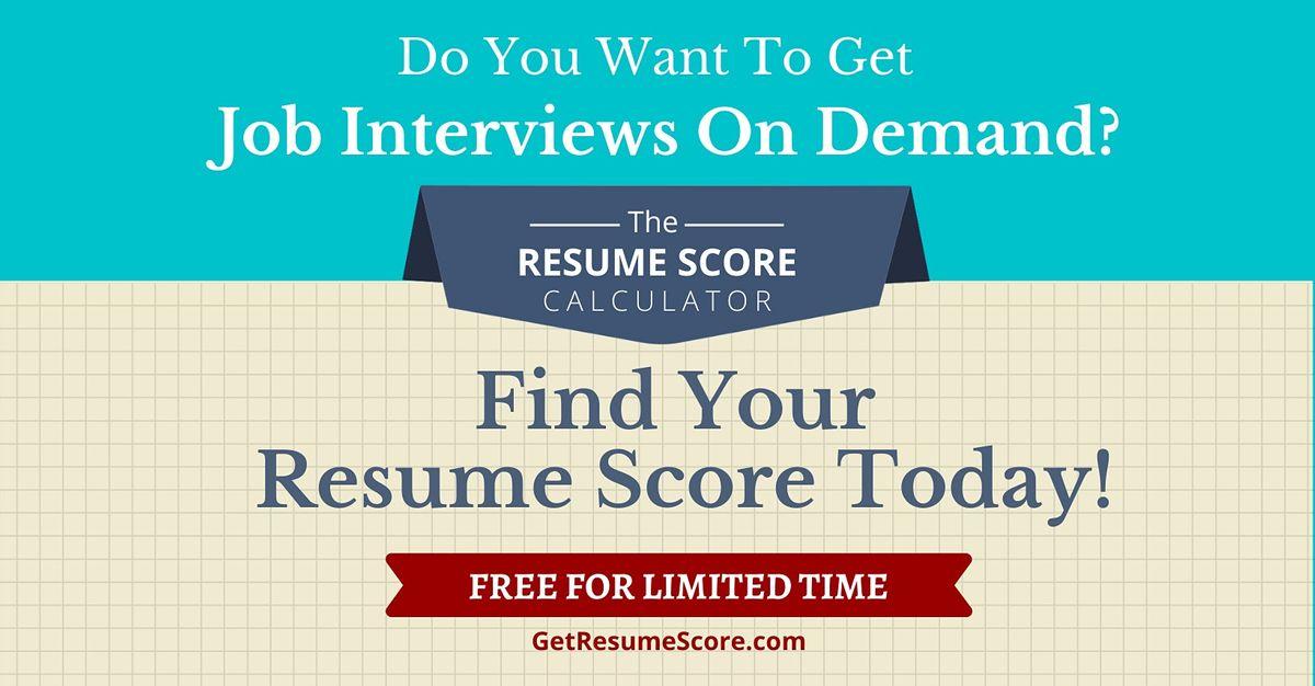 """Resume Score Maximizer"" \u2014 Do You Know Your Resume Score?  \u2014 Bangkok"