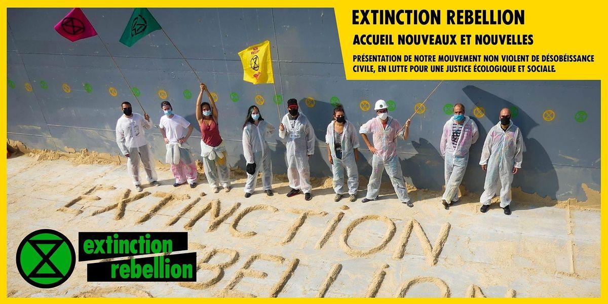 R\u00e9union d'accueil Extinction Rebellion