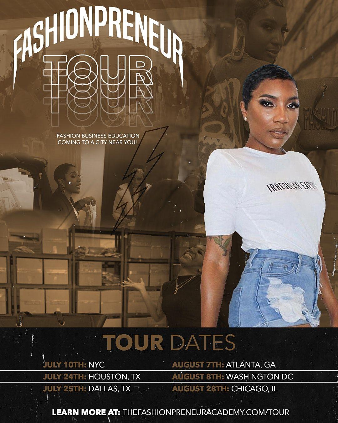 The Fashionpreneur Tour 2021- DALLAS, TX