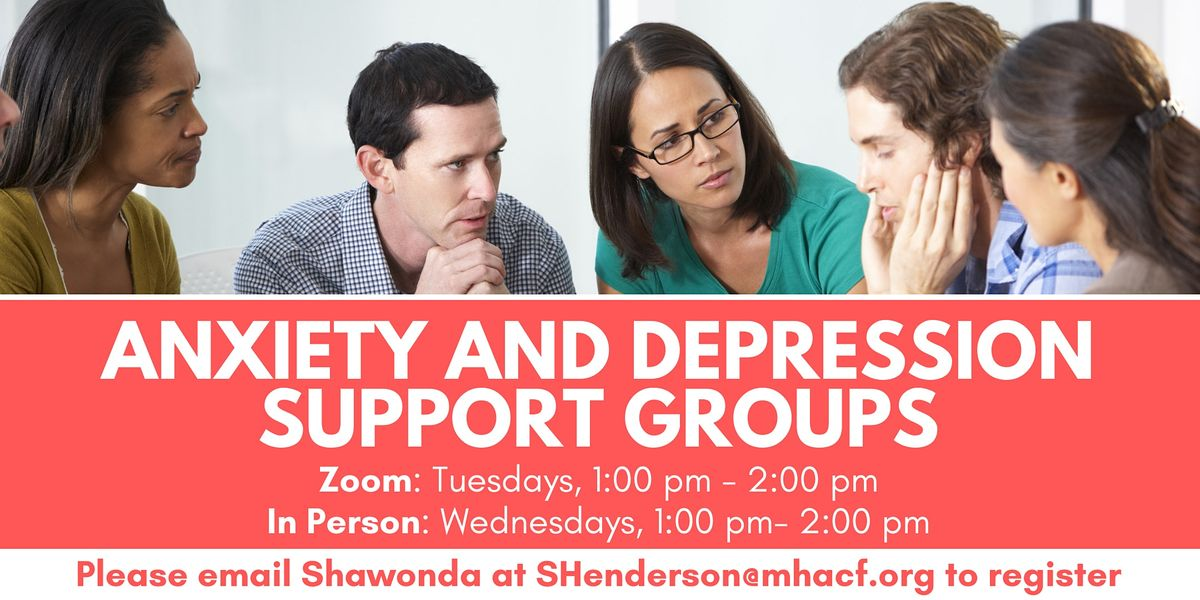 Weekly Anxiety and Depression In-Person Support Group