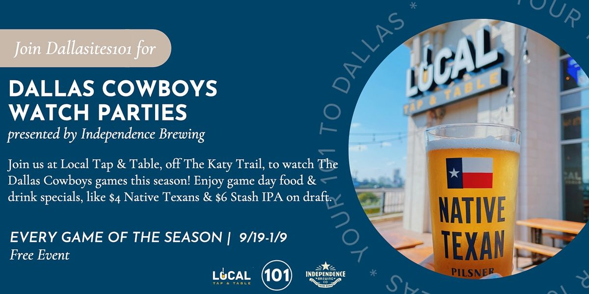 Dallas Cowboys Watch Parties at Local Tap & Table
