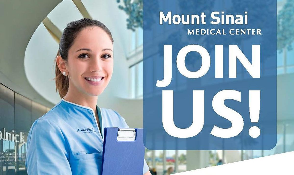 Diagnostic Imaging Hiring Event With Mount Sinai