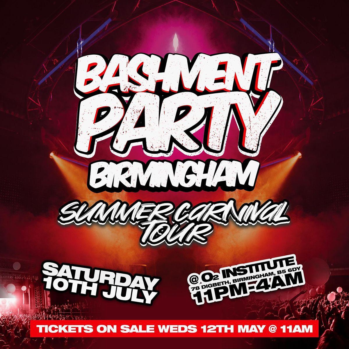 Bashment Party Birmingham - Summer Carnival