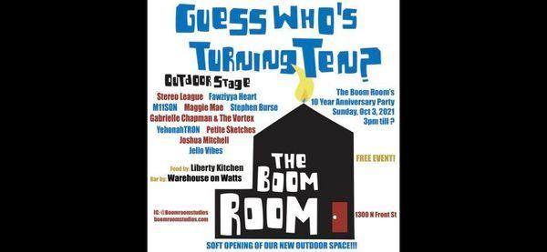 The Boom Room\u2019s 10 Year Anniversary