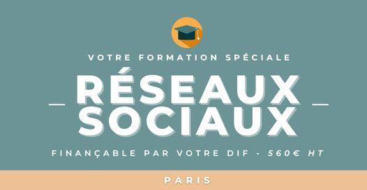 Votre formation Proxima - R\u00e9seaux sociaux - Paris