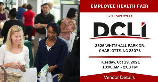 DCLI Employees Health Fair - RESERVE YOUR BOOTH!