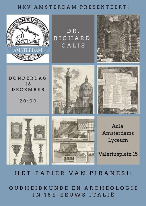 Lezing: Het papier van Piranesi: Oudheid en Archeologie in 18e-eeuws Itali\u00eb (door Richard Calis)