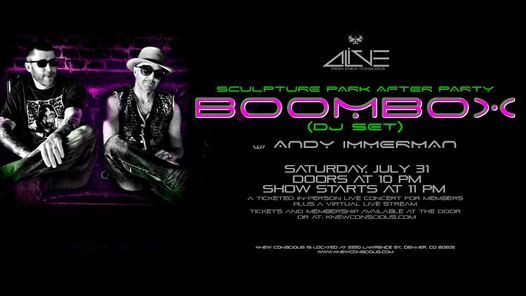 BoomBox (DJ SET) w\/ Andy Immerman | Sculpture Park After-Party