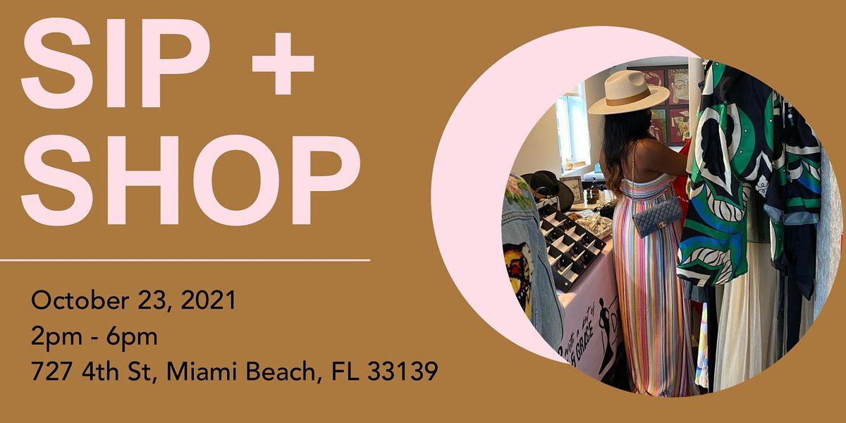 Sip + Shop Event
