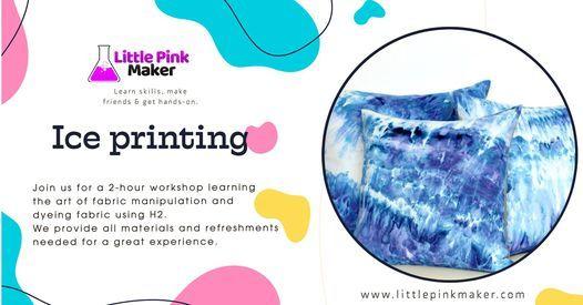 Ice dyeing textiles