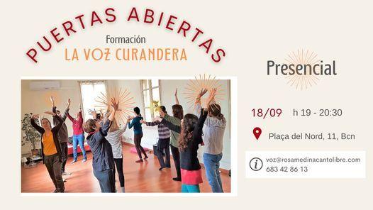 """PUERTAS ABIERTAS: Formaci\u00f3n """"La Voz Curandera"""""""
