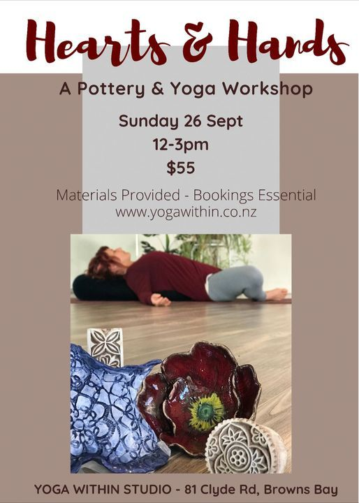 Hearts & Hands - A yoga and pottery workshop