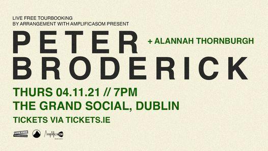 Peter Broderick + Alannah Thornburgh: The Grand Social, Dublin - 4\/11\/21