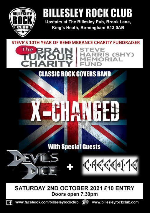 STEVE HARRIS (SHY) 10TH YEAR OF REMEMBRANCE CHARITY GIG