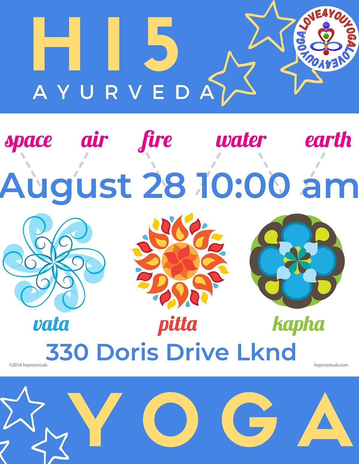 Yoga Hi 5 Ayurveda