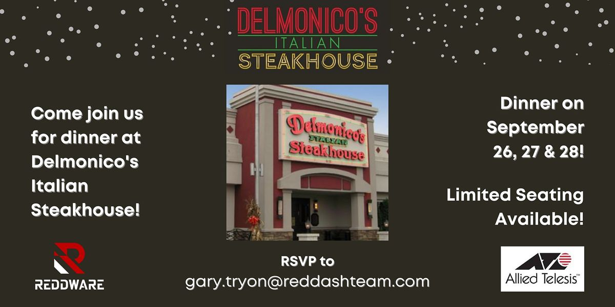 Delmonico Italian Steakhouse Dinner with ReddWare