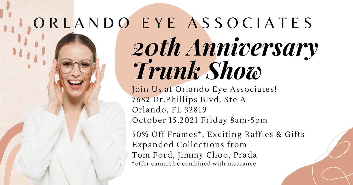 20th Anniversary  Optical Trunk Show!