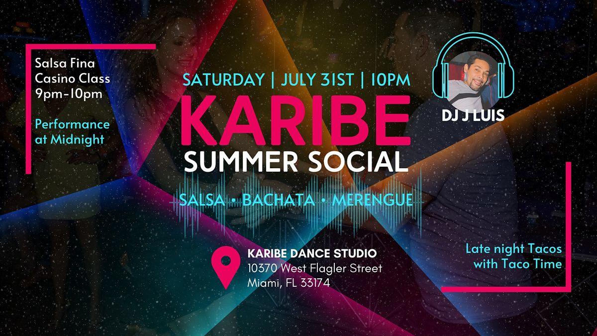 Karibe Summer Salsa & Bachata Social + Rueda Class