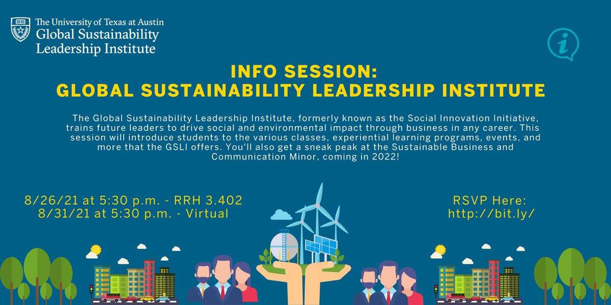 Global Sustainability Leadership Institute Information Session