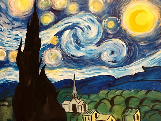 Paint and Wine Night- A Starry Night