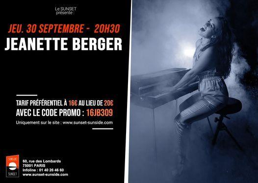 JEANETTE BERGER @Sunset\/Sunside, Paris