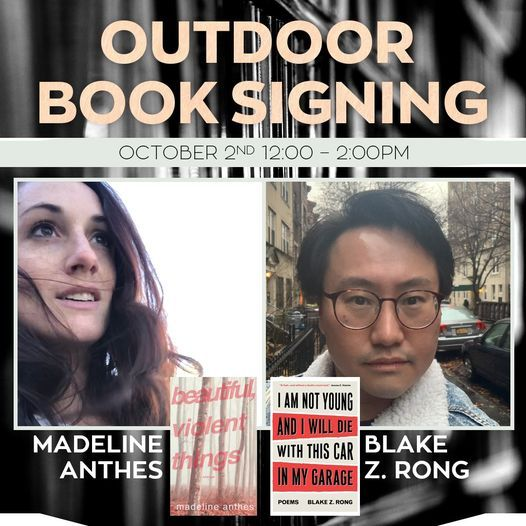 Outdoor Book Signing w\/ Madeline Anthes & Blake Z. Rong