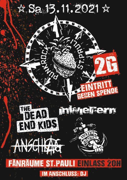 2G Konzert: Inwiefern, Anschlag, Dead End Kids, Violent Instinct