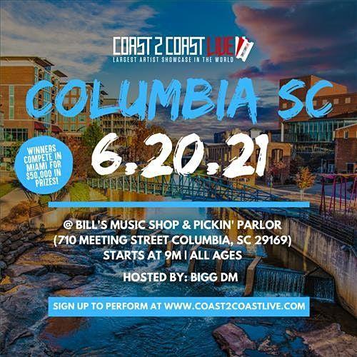 Coast 2 Coast LIVE Showcase Columbia, SC - Artists Win $50K In Prizes