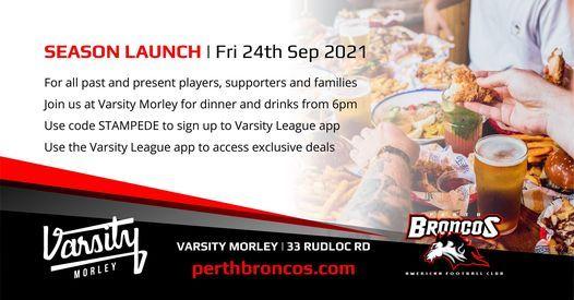 Season Launch | Perth Broncos American Football Club
