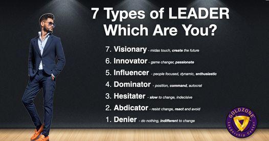 7-Types of Leaders: Free Leadership Seminar
