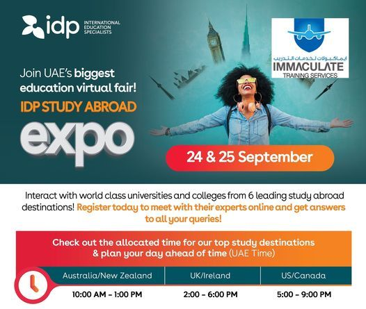 IDP Study Abroad Virtual Expo