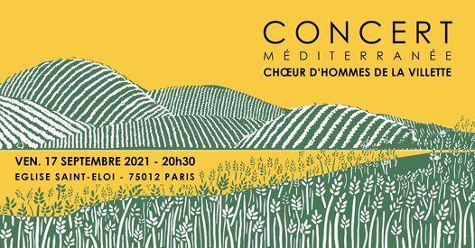 Concert M\u00c9DITERRAN\u00c9E - Choeur d'Hommes de La Villette