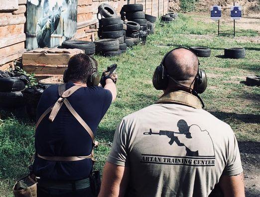Firearms Tactical pistol. Basic