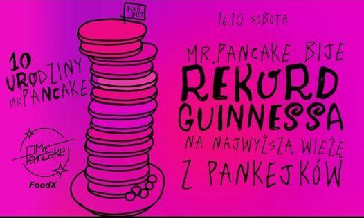 Mr. Pancake bije rekord Guinnessa na najwy\u017csz\u0105 wie\u017c\u0119 z pankejk\u00f3w