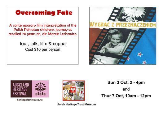 Overcoming Fate. Film, tour, talk. Auckland Heritage Festival 2021