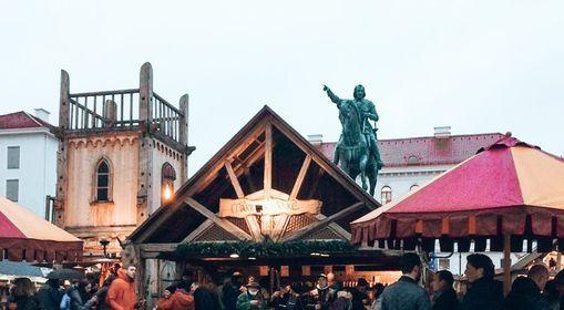 Mittelalterlicher Weihnachtsmarkt in M\u00fcnchen 2021
