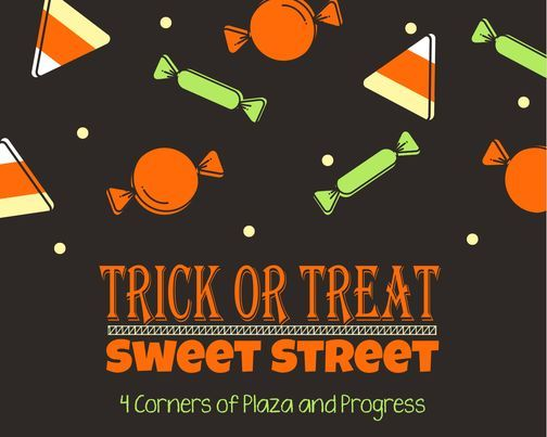Trick or Treat Sweet Street event banner