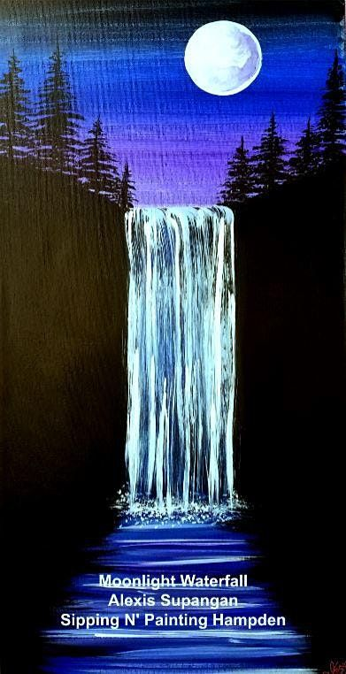 IN STUDIO CLASS Moonlit Waterfall Wed Aug 4th 6:30pm $35