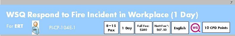 WSQ Respond to Fire Incident in Workplace (PI-CP-104E-1) Register: Run 274