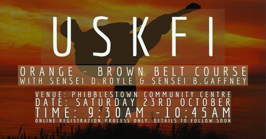 USKFI Free Orange to Brown Belt Course with Sensei D.Royle & Sensei B.Gaffney