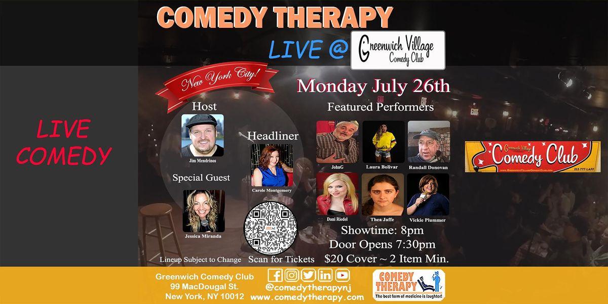 Comedy Therapy Live @ Greenwich Comedy Club - July 26th, 8pm