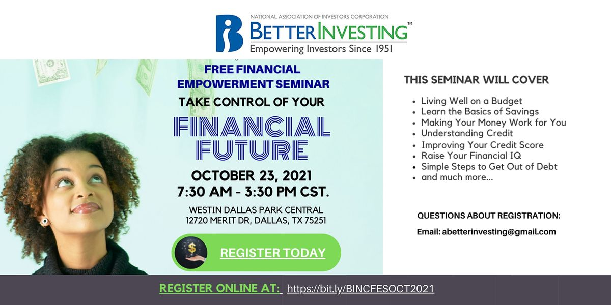 BetterInvesting 2021 National Convention Financial Empowerment Seminar