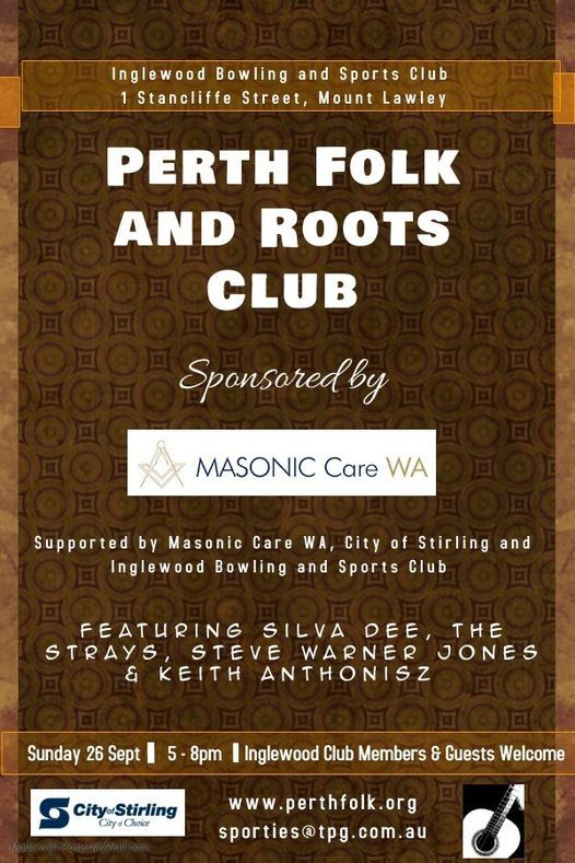Perth Folk and Roots Club featuring Silva Dee and The Strays