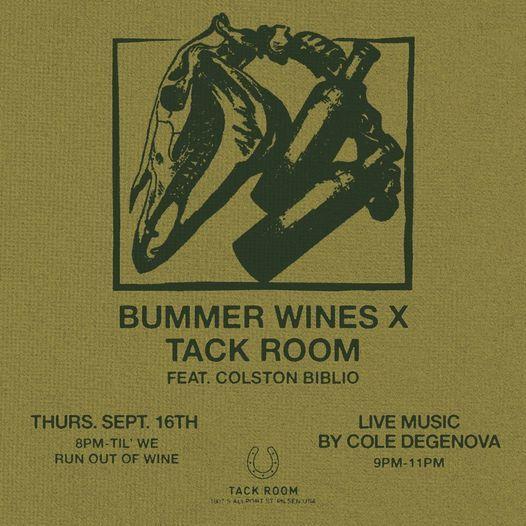 Bummer Wines X Tack Room